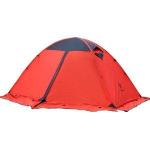 Image 3 - Hillman quatre saisons Double couche poteaux en aluminium ultraléger 2 personnes utiliser respirant Camping tente Barraca avec jupe de neige