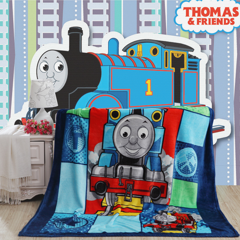 Home Textiles Thomas Train Cartoon Pattern Coral Fleece
