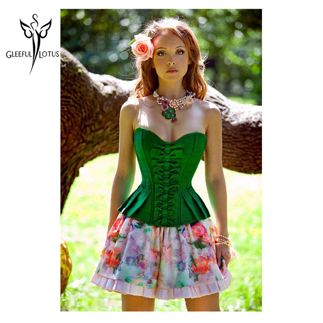 d9a1fa1c6ef gaine amincissante Women intimates Fashion Style Corset- Overbust Sexy  Lingerie Green C001