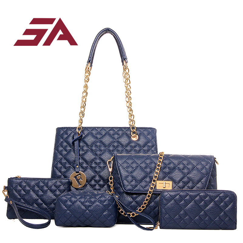 SA Fashion new Women Handbag Women Bags Ladies Brand Designer Bag Handbag+Messenger Bag+Crossbody Bag+Clutche+Purse 5 Sets 3 sets 2017 women handbags leather handbag women messenger bags ladies brand designs bag bags handbag messenger bag purse 3 sets