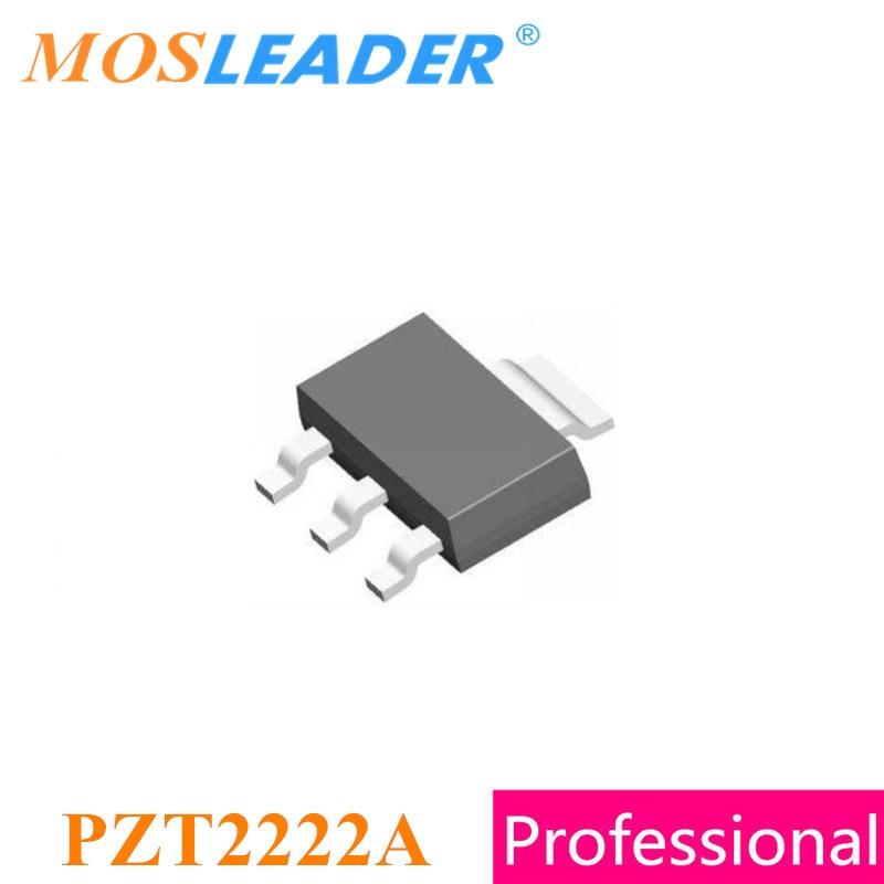 Mosleader PZT2222A SOT223 500 шт. ZT2222A PZT2222 PZT2222AT1G 40 В 600mA 0.6A NPN высокого качества