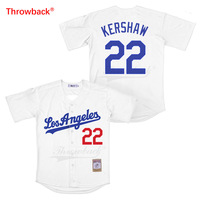 Throwback Jersey Men's Los Angeles Jersey Kershaw Movie Baseball Jerseys Shirt Stiched Size S 3XL Free Shipping