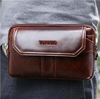 Doogee S90 Pro S80 Lite S60 S55 Lite BV9600 Plus Waist Pack Men Bag Belt Bag Genuine Leather Phones Bags Blackview BV9700 Pro