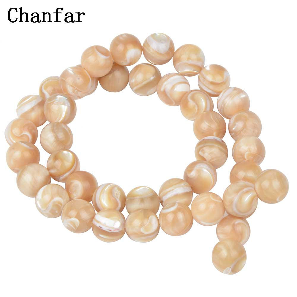 Natural Top Shell Beads For Women Shell Jewelry Making Loose Beads 4 6 8 10 12mm