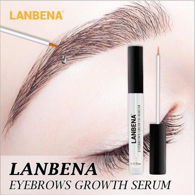 Eyebrow Serum Eyebrow Enhancer For Eyelash Eyebrow Growth Serum Longer Fuller Thicker Nourishes Powerful Hair Growth LANBENA