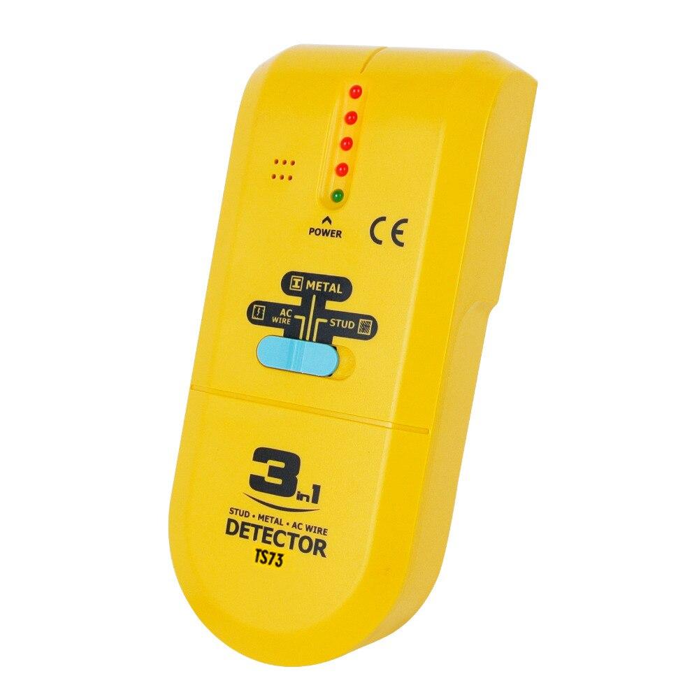 3-en-1 Détecteur Trouvez Métal Bois Goujons AC Tension Live Wire mur Scanner Boîte Finder avec Rainure + Buzzer Électrique De Poche testeur