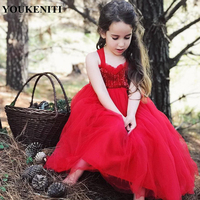 YOUKENITI Ücretsiz Kargo 1-5 T Uzun Kız Elbise Dantel Shining Sequins Balo Için Moda çocuk Giyimi parti Y816