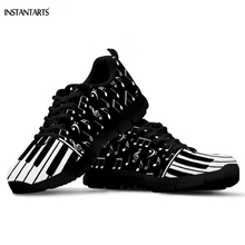 INSTANTARTS Piano Keyboard Music Notes Pattern Woman Man Running Shoes Outdoor W