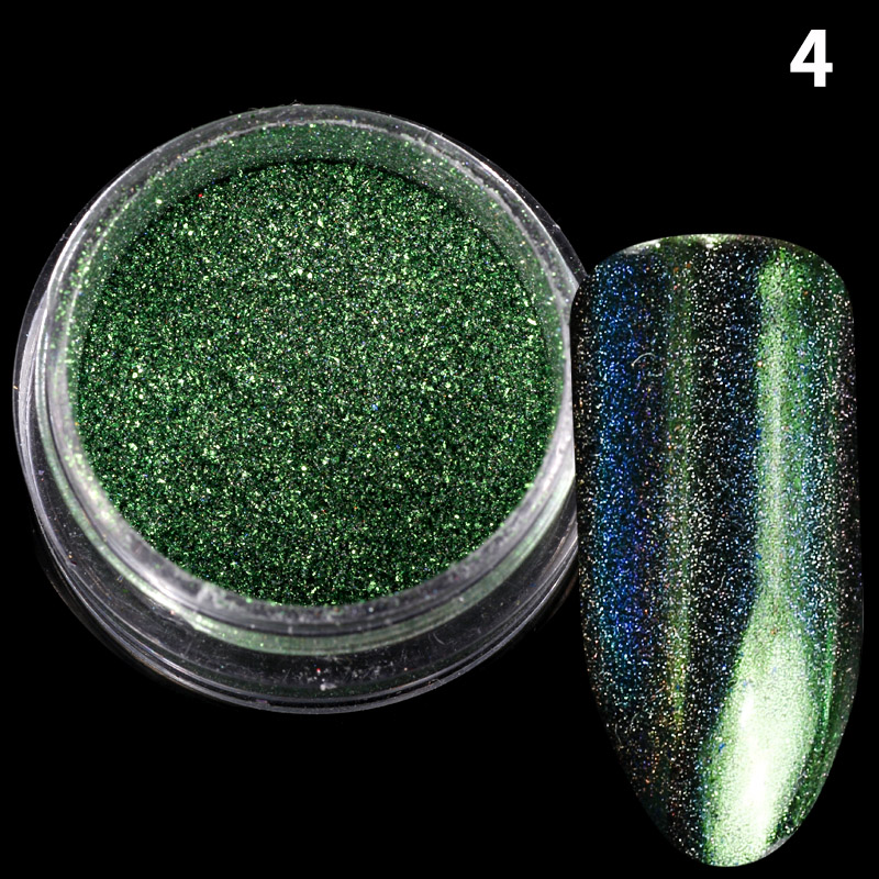8 colores/set Nail Art Glitter Holographic Irregular polvo escamas ...