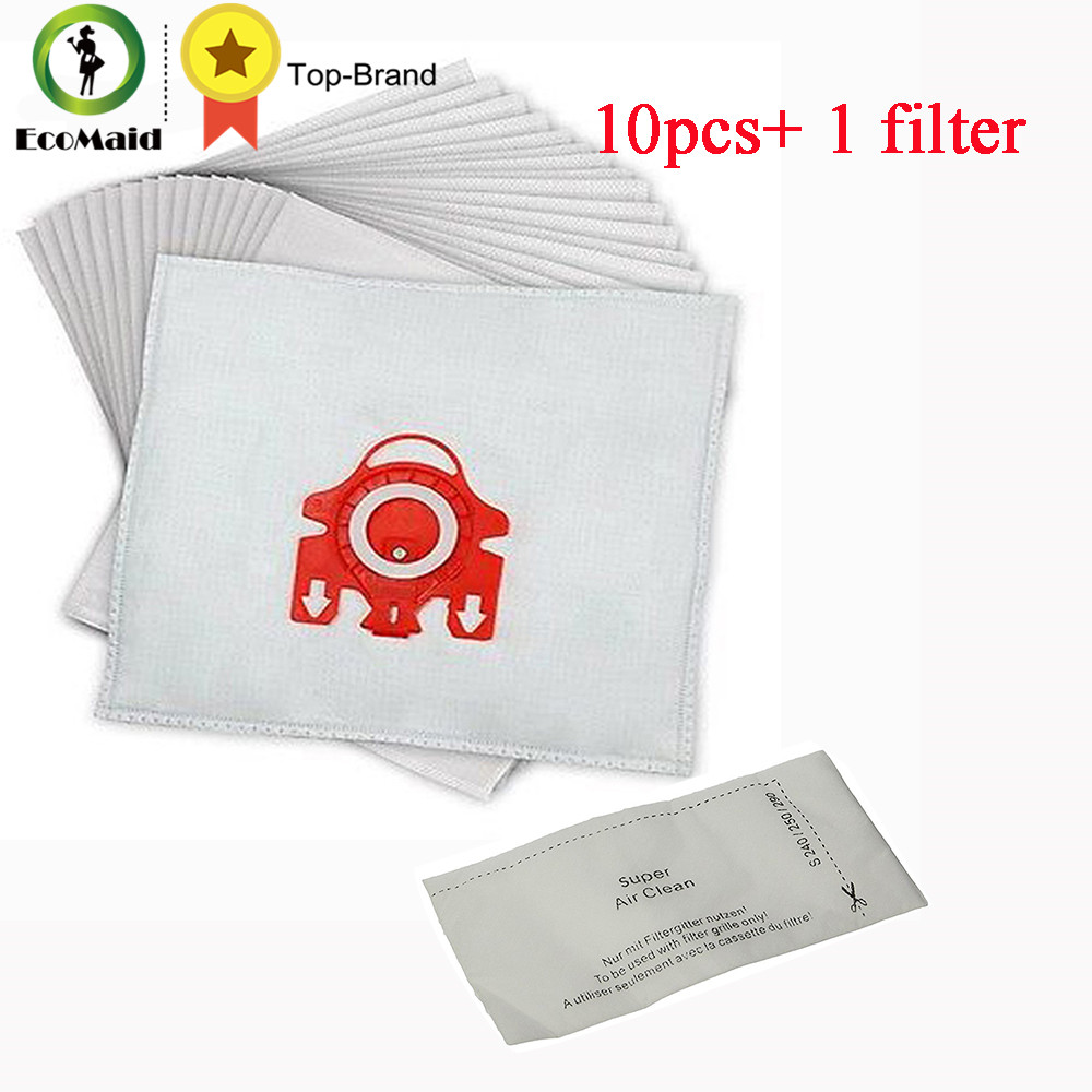 Dust Bag (10 Bags + 1 Filter) For Miele Airclean Vacuum Cleaner FJM Series Vacuum Parts Cleaning Rubbish Bag with Filter
