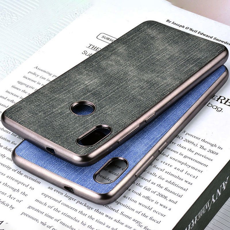 jeans fabric case for Xiaomi Redmi Note 5 Pro AI Global version soft Chromed TPU material & luxury skin covers coque fundas