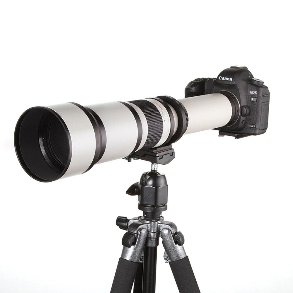 650-1300mm F8.0-16 Super Téléobjectif Zoom Manuel + T2 Adaptateur pour Canon 1200D 760D 750D 700D 650D 600D 70D 60D 5DII 7D DSLR
