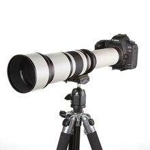 650-1300mm F8.0-16 Super Telefoto Lente Zoom Manual + Adaptador T2 para canon 1200d 760d 750d 70d 700d 650d 600d 60d 5dii 7d DSLR