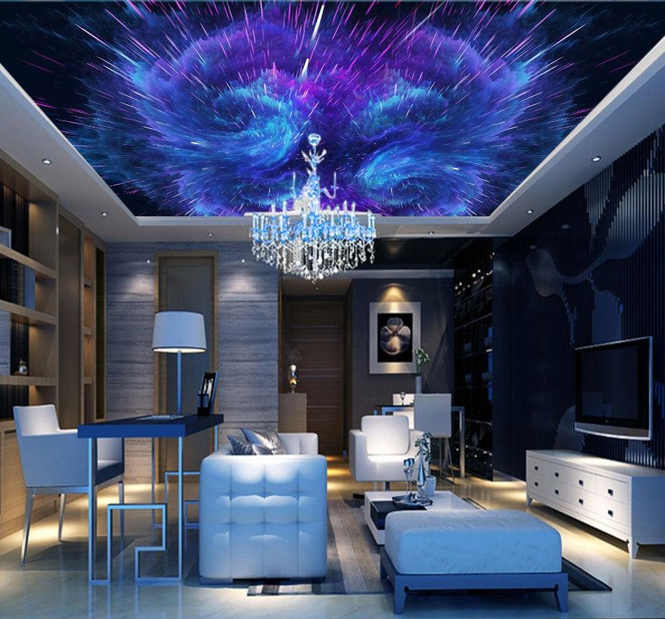 Aliexpress.com : Buy Custom Space 3d Ceiling Wallpaper For