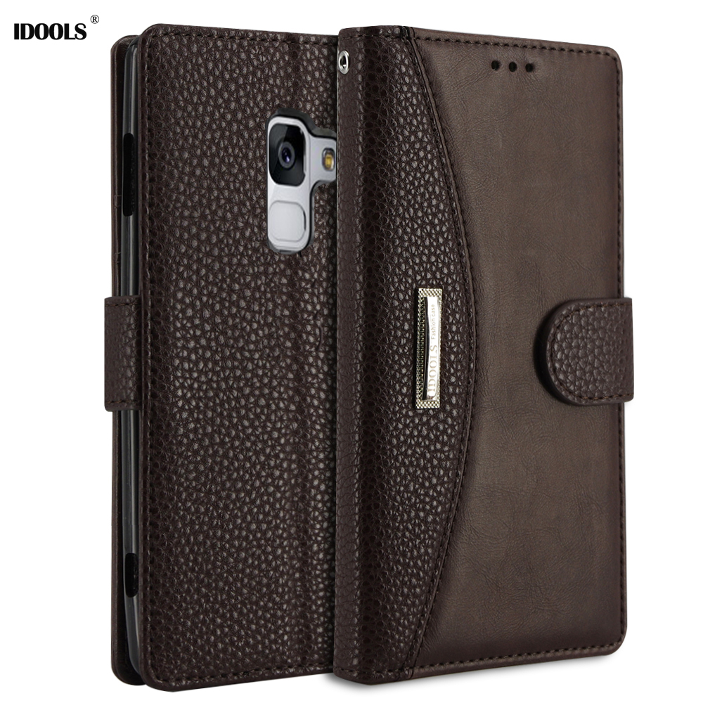 IDOOLS Flip Case For Samsung Galaxy J6 2018 PU Leather Wallet Silicone Phone Bags Cases For Samsung J6 2018 Stand function