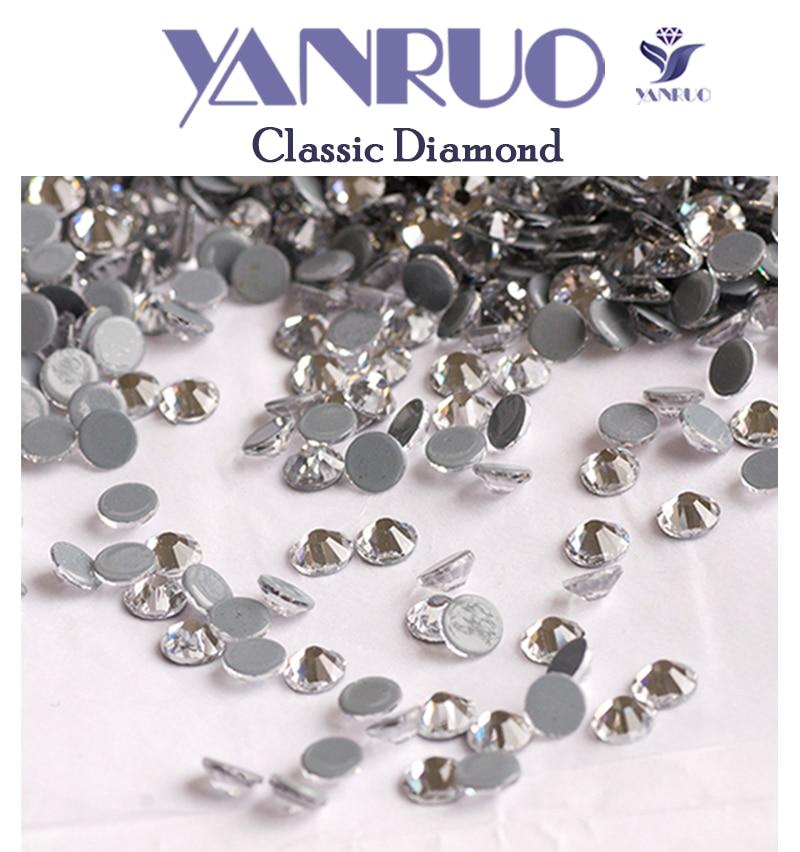 YANRUO 2058HF Clear White Crystal Hot Fix Rhinestones Transfer Glass ... 011fc9f41c43