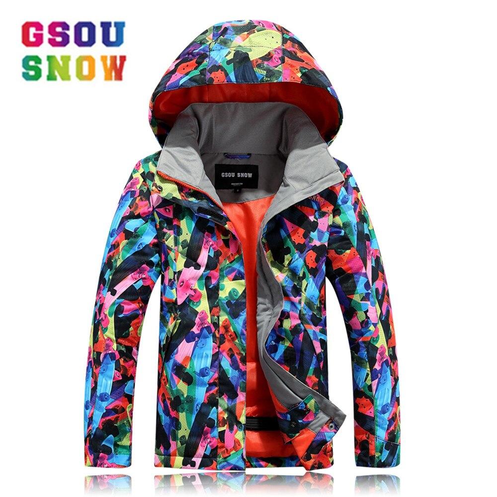 Gsou Snow Winter Ski For Girls Kids Waterproof Warm Snowboarding Ski Jacket Snowboard Outdoor Skiing Snow Wear Breathable цена