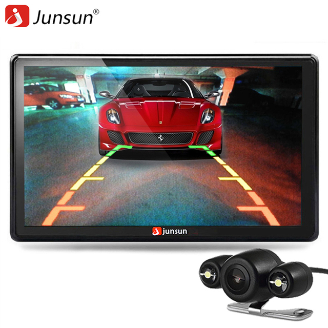 Junsun 7 inch Car GPS Navigator Bluetooth with Rear view Camera MP3 MP4 256MB DDR/800MHZ Detailed FM Transmitter+Free Latest Map