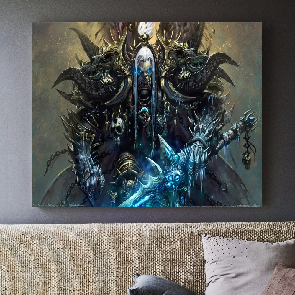 Canvas Wall Art Modern Pictures Frame 3pieces World Of Warcraft Fiery Dragon Game Painting Room Decor