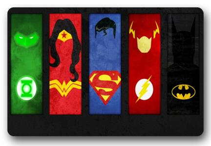 Marvelous Custom Batman Doormat Flash Pad Wonder Woman Mat Superman Carpets DC Comics  Bathroom Justice League Rugs