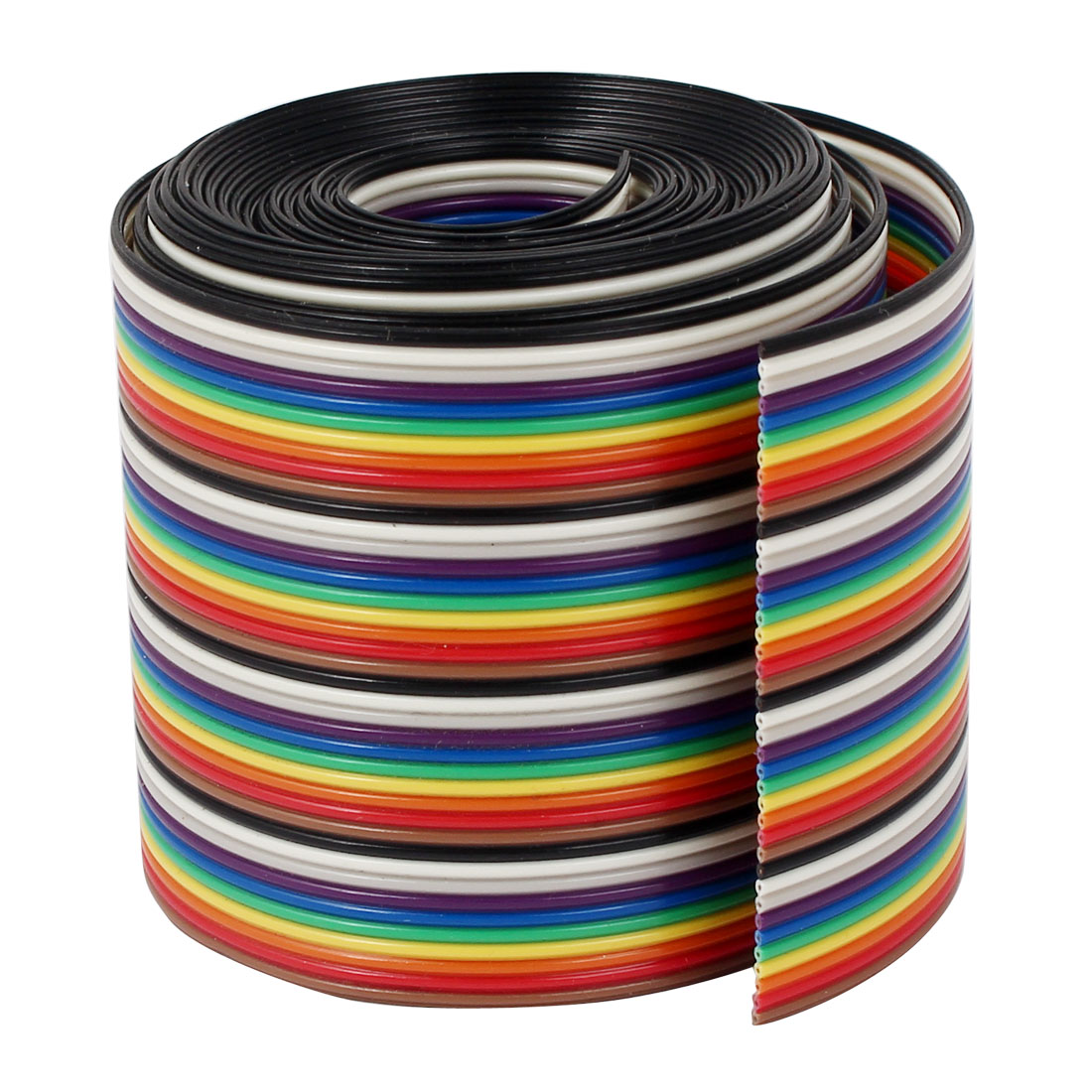 2 Meter 6.6ft 40 Way 40 pin Flat Rainbow Ribbon IDC Cable Wire Rainbow Cable jet triple 2 flat pin sockets power strip yellow 2 flat pin plug ac 110 220v 48cm cable page 2 page 1 page 5
