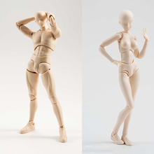 Anime Archetype Movable 3D Nude Male  He She Ferrite Figma Movable body kun body PVC Action Figure Model Toys 8style archetype he archetype she ferrite shfiguarts body kun body chan ver pvc action figure collectible model toy with box