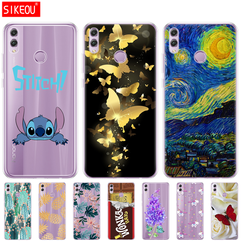 Silicone Case For Huawei Honor 8x Case 6.5 Inch Soft TPU Back Phone Cover For Huawei Honor 8x Protect Phone Shell Coque Printing