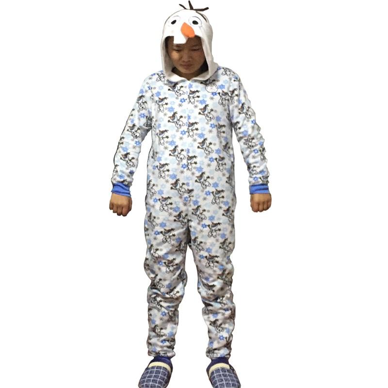Unisex Flannel Adult Snow Queen Olaf  Pajamas Pyjamas Women Onesie Men Cosplay Animal Onesies Sleepwear