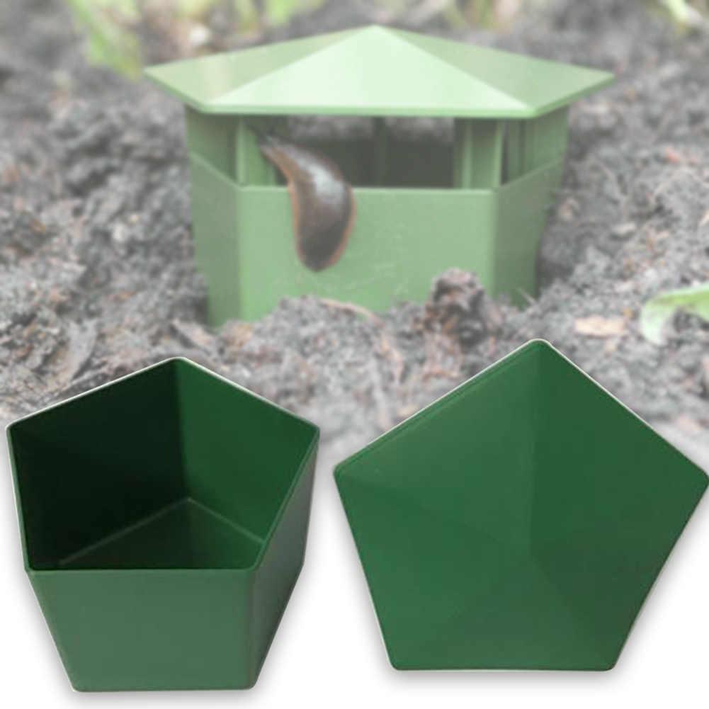 Jaula do réptil Sanguessuga Ecológico Jardim Ferramenta Planária Catcher Armadilha Caracol Slug Caixa De Plástico Transparente Protetor de Fazenda Casa