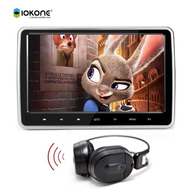 10 polegada monitores de encosto de cabeça DVD/Leitor USB/SD IR/FM Falar Jogos Controle Remoto 1024*600