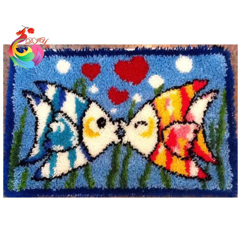 hobby craft Carpets needlework Latch hook rug kits cross-stitch sets for embroidery Stitch Carpet embroidery Home decoration  craft