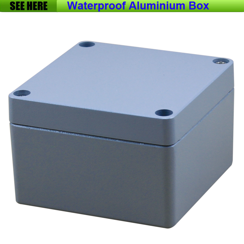 Free Shipping  1piece /lot Top Quality 100% Aluminium Material Waterproof IP67 Standard aluminium junction box 120*120*82mm 1 piece free shipping powder coating aluminium junction housing box for waterproof router case 81 h x126 w x196 l mm