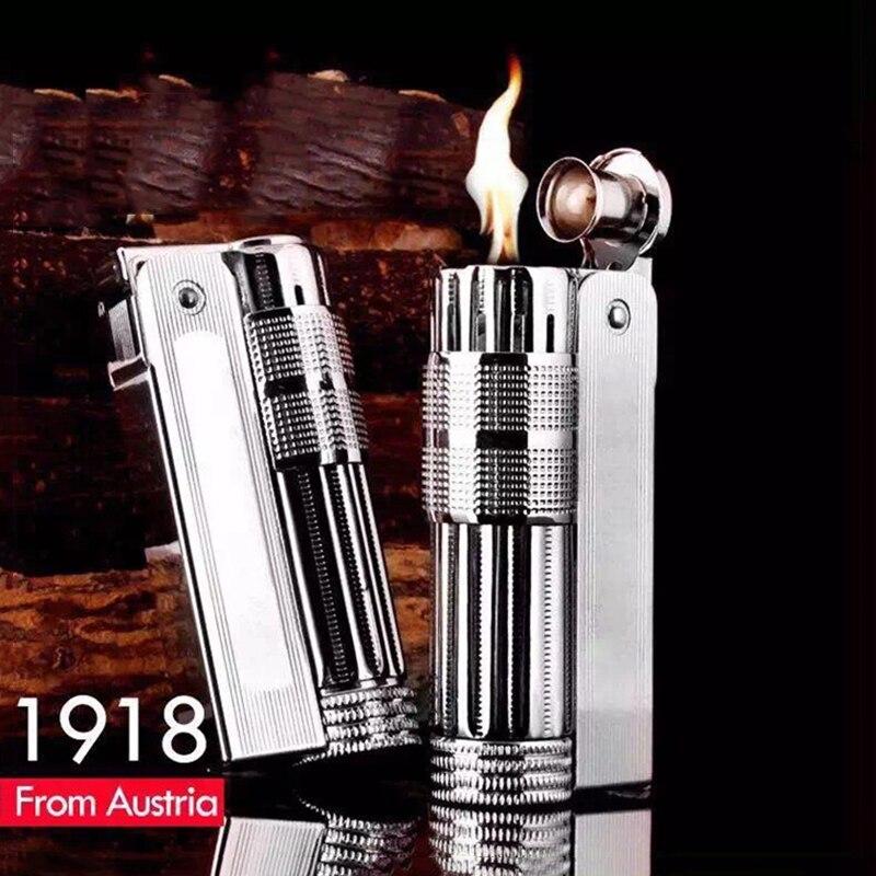 New Retro Gasoline Lighter Trenches Pure Copper Cigarette