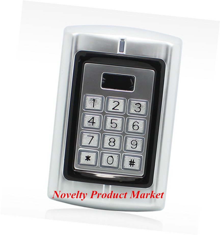 Metal Case  1000 Users  Door Access Control System Entry Door Lock Keypad Access Control metal rfid em card reader ip68 waterproof metal standalone door lock access control system with keypad 2000 card users capacity