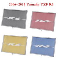 YZFR6 Aluminum Radiator Guard Water Tank Coolant Grill Grille Net Cover Protector for 2006 2015 Yamaha R6 YZF R6 2007 2008 2009