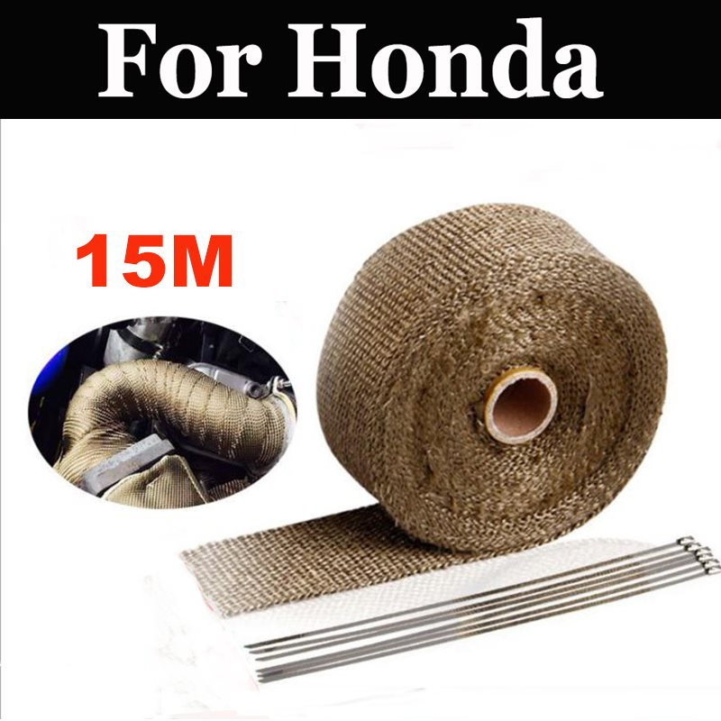 15m High Heat Insulation Fire Fiberglass Wrap Resistant Fireproof For <font><b>Honda</b></font> Cb 750ss 900c 900f 900f2 900fb <font><b>Cbf</b></font> 1000 250 <font><b>600</b></font> 125 image