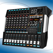 Professional 8 Channels with Bluetooth USB Dual-screen Mixer Stage Wedding Outdoor Performance Reverb Effect Adjustment G8
