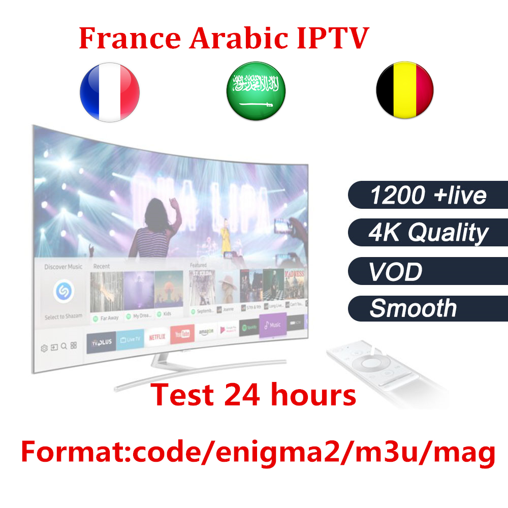 IPTV abonnement pour Android TV Box & smart tv Sur 1200 + Canaux Arabe Français Belgique IPTV abonnement d'un an