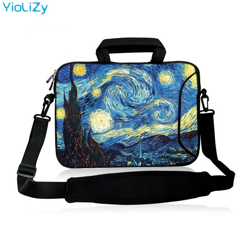 Van Gogh 10 11.6 13.3 14.1 15.6 17.3 Inch Handbag Laptop Protective Case Notebook Bag With Strap Messenger Sleeve Cover SB-24818