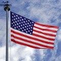 Nova 3x5.2 Ft EUA Listras Da Bandeira Americana Estrelas de Bronze Grommet Bandeira DOS EUA