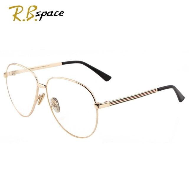 2017Tide brand Eeyeglasses Fashion woman Of Designer brand Metal Frame Sunglasses Women read computer Optical Eyeglasses Framing
