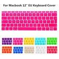 2 шт. 1 лот ес версия цветные клавиатура защитный чехол флим чехол для Macbook 12 дюймов новая модель