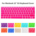 2PCS 1LOT EU Version Colored Keyboard Protective Cover Flim Case For Macbook 12 inch New Model