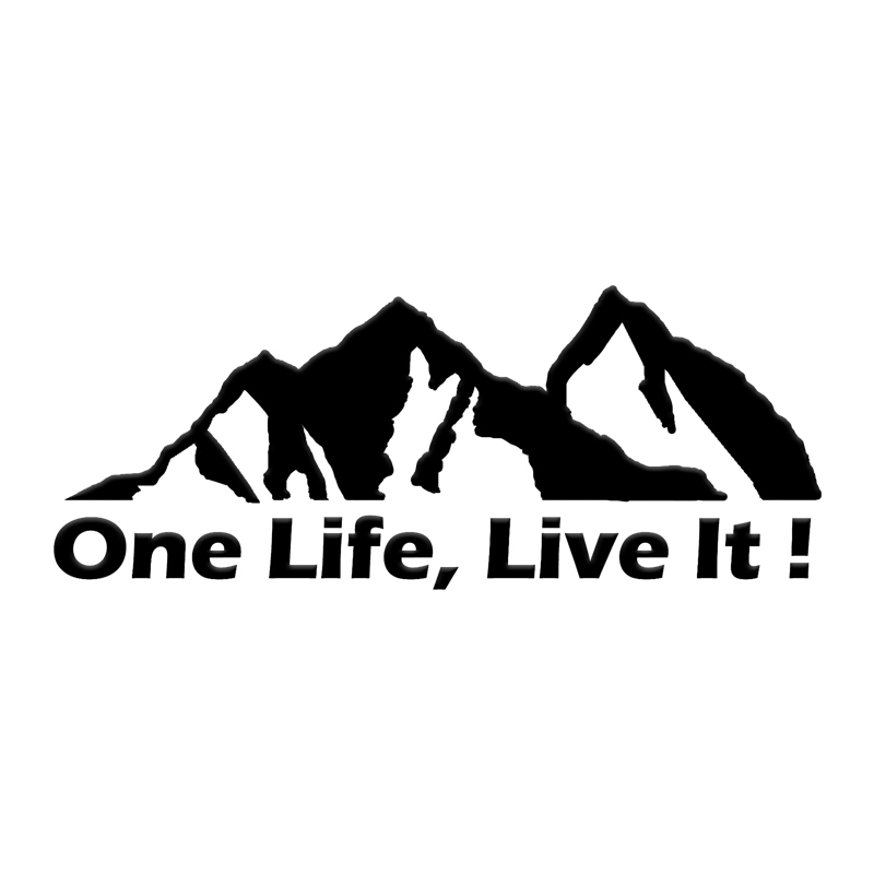 ONE LIFE LIVE IT ! offroad , offroader Mountain silhouette stickers sticker