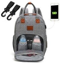 Fashion New Mummy Backpack Large Capacity Travel Maternity Waterproof Bag Diaper Baby Bag Multifunctional Nursing Bag Backpack