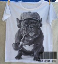 Sherlock Holmes Smoking Bulldog T-Shirt