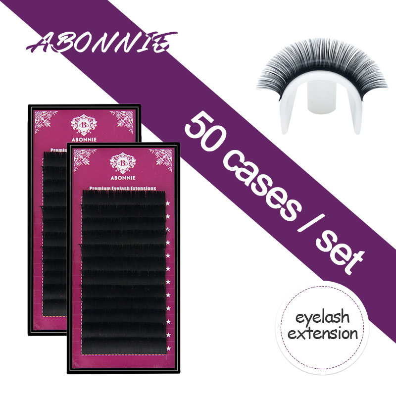 ABONNIE 50 pcs set 8 17 all size High quality mink eyelash extension,individual eyelashes,natural eyelashes,fake false eyelashes