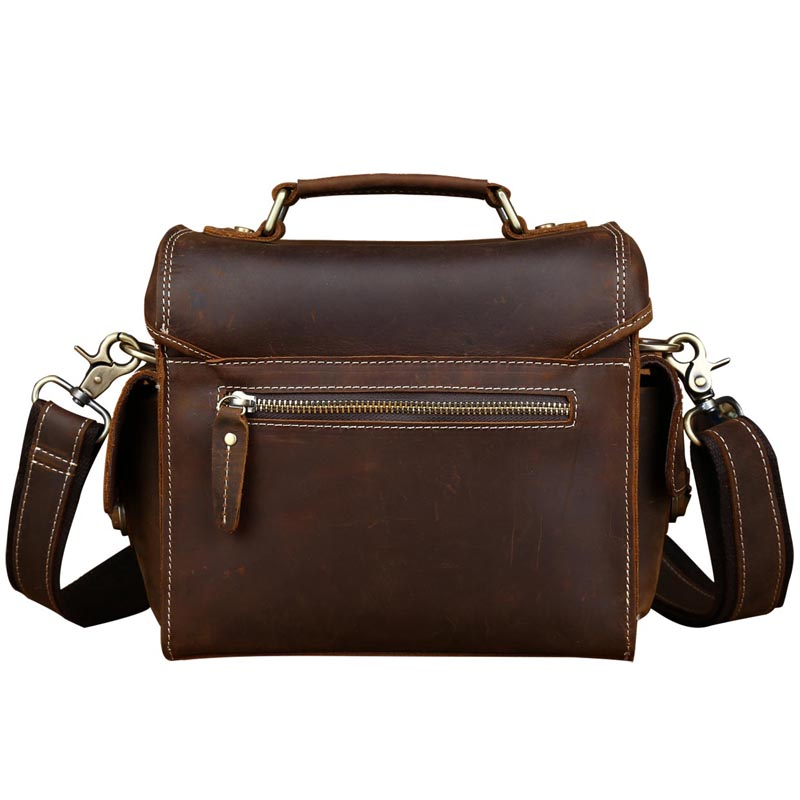 b2ea873a31 PULIZIA E RIASSETTO Pazzo Cuoio di Cavallo Borsa Fotografica Stile Vintage Crossbody  Bag Per DSLR Lens Sacchetto di Tote della Spalla 1124 in PULIZIA E ...