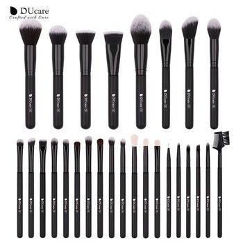 DUcare  Black Makeup brushes set Professional Natural goat hair brushes Foundation Powder Contour Eyeshadow make up brushes - 27PCS Brushes, Spain