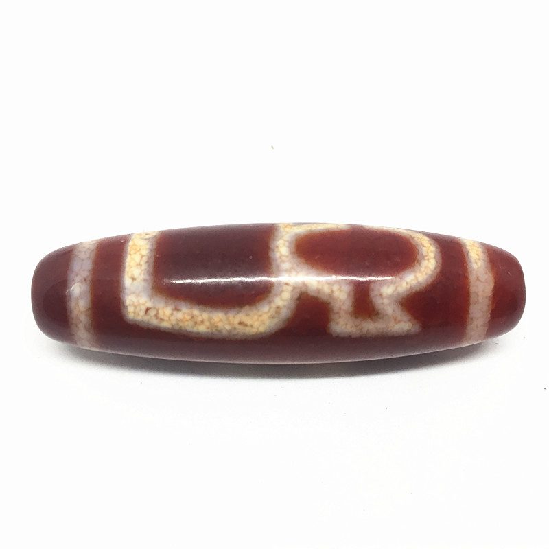 Red Natural Chalcedony God of wealth 15mm*55mm Pendant Big Size Powerful Amulet Tibetan Dzi Beads Loosing Beads Free Shipping
